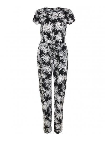 fde6a0d5294 Blue Inc Woman Womens Black   White Palm Print Jumpsuit