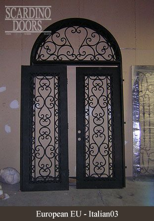 Scardino Doorsu0027 custom wrought iron doors will be the perfect addition to your property. & European wrought iron door designs | wrought front door | Pinterest ...