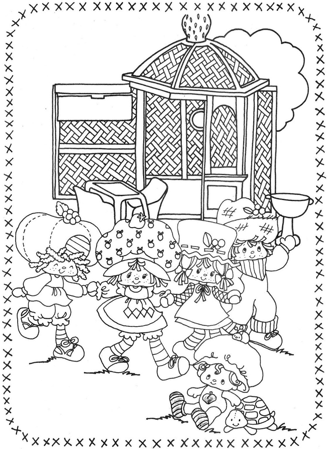 Photo Strawberry Shortcake Coloring Pages Mandala Coloring