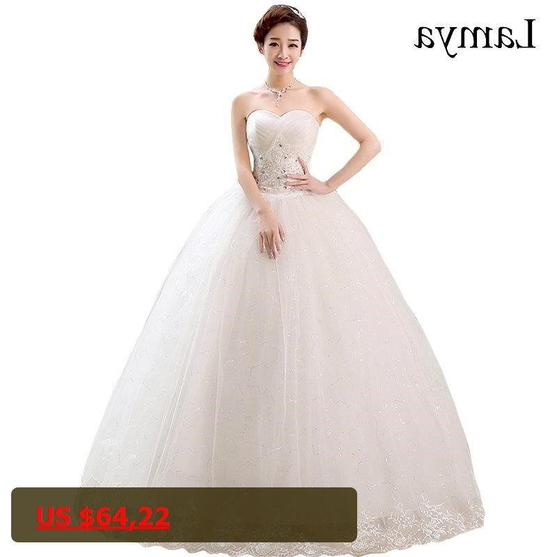 Summer Sweetheart Wedding Dress Lamya White Lace Up Vestido De Noiva  Crystal Plus Size Ball Gown 3d2b9814e06d