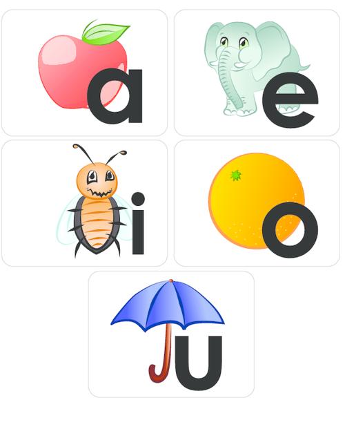 Resultado de imagen de vowels flashcards