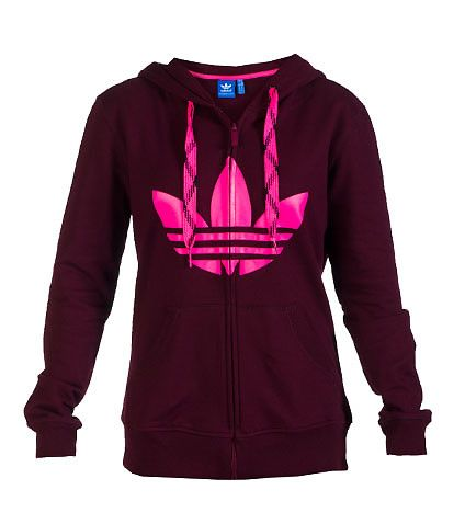 595f561e4ec5 adidas Full zip hoodie Adjustable colored shoe lace drawstring on hood  Screen print adidas logo on front 2 front pockets