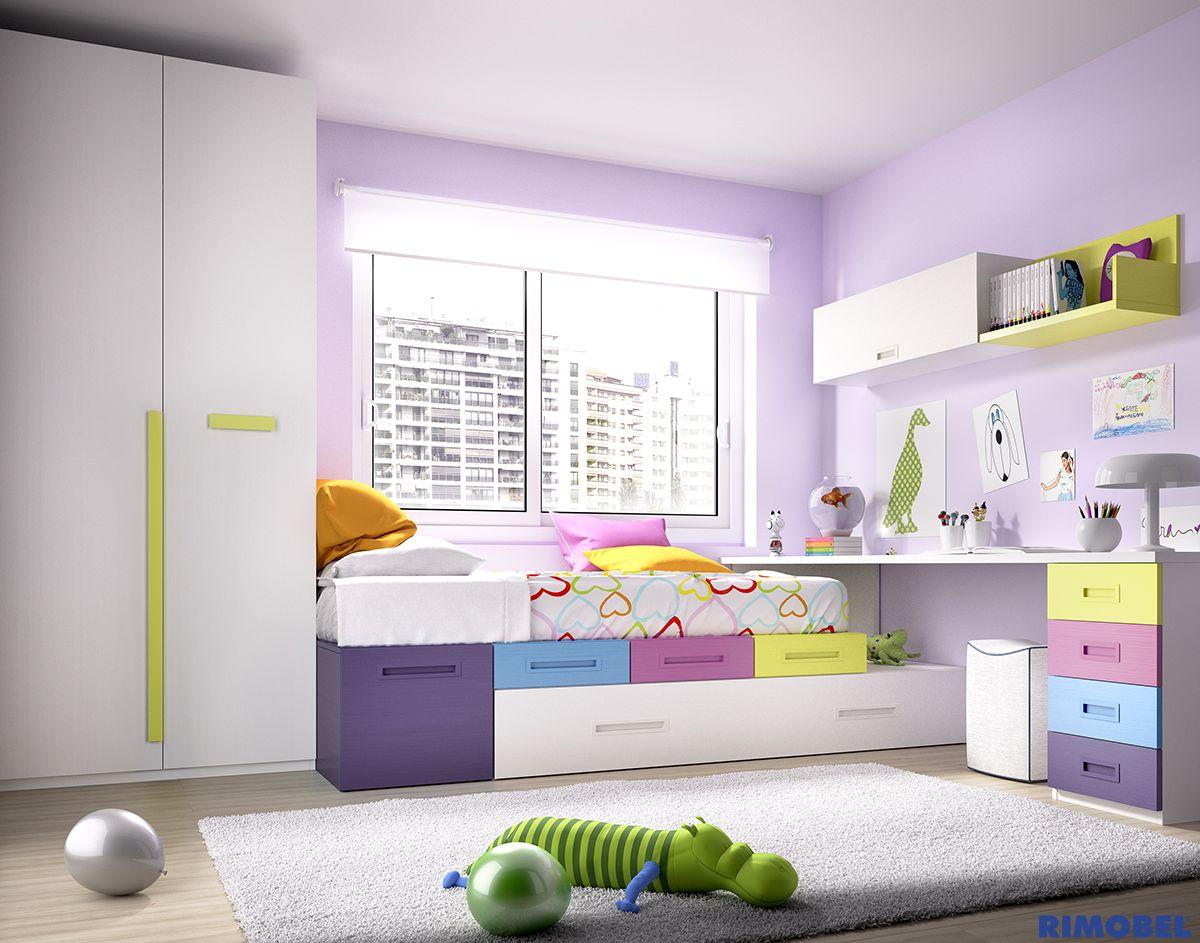 H101_Color y alegría para la habitacin de los niños. Un Mundo joven ...