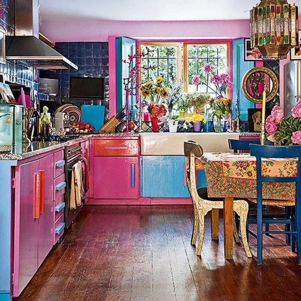 70 ideas to create rustic bohemian kitchen decorations eclectic kitchen quirky kitchen boho on kitchen ideas quirky id=19564
