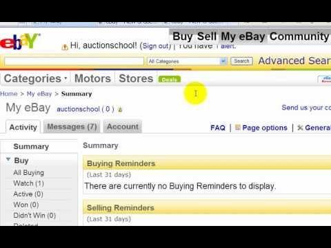 Ebay Training Videos Watch Me Link My Paypal Account To My Ebay Account Video 4 Training Video My Ebay Ebay