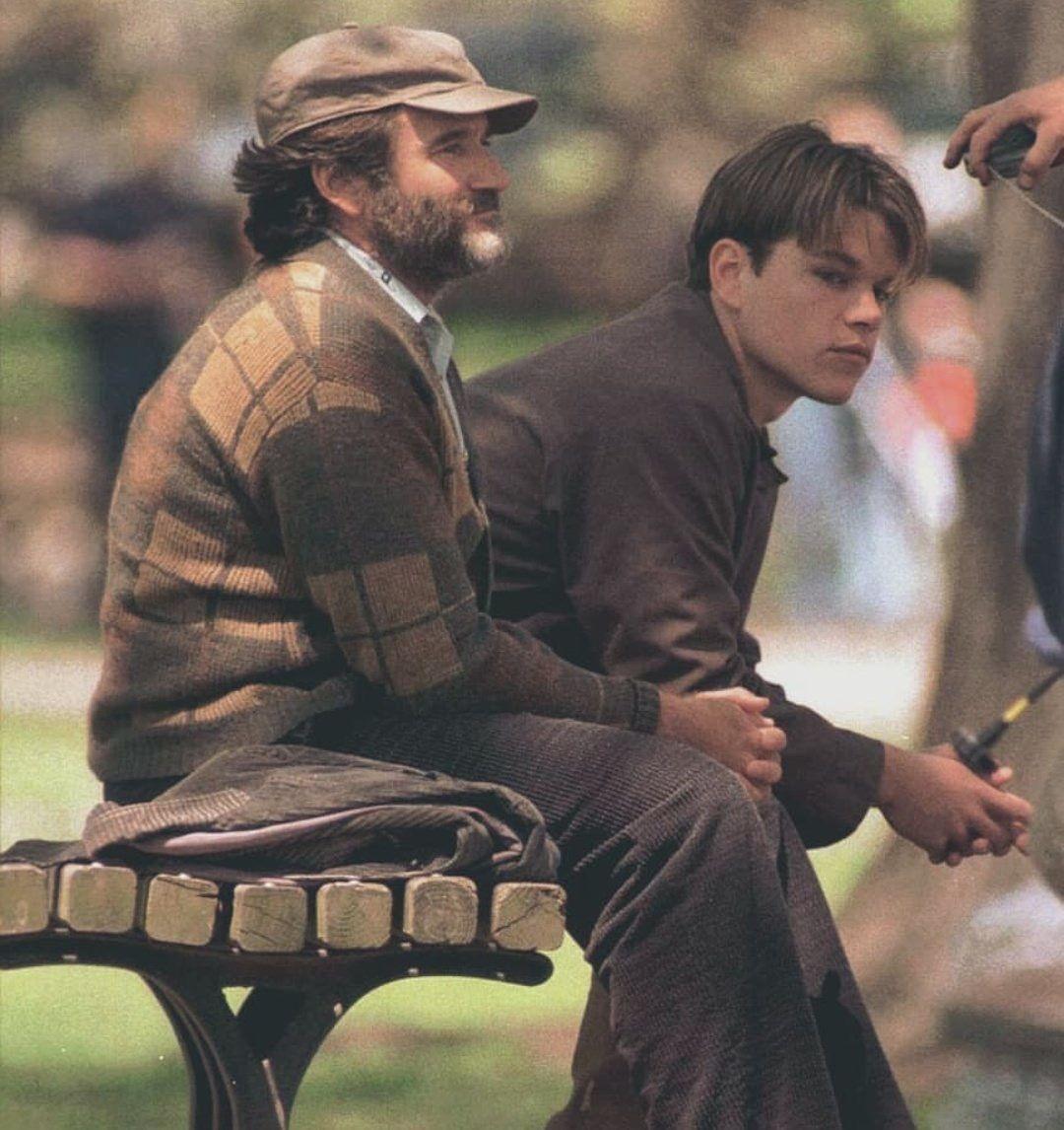 Matt Damon And Robin Williams On Set Of Good Will Hunting Good Will Hunting Matt Damon Robin Williams