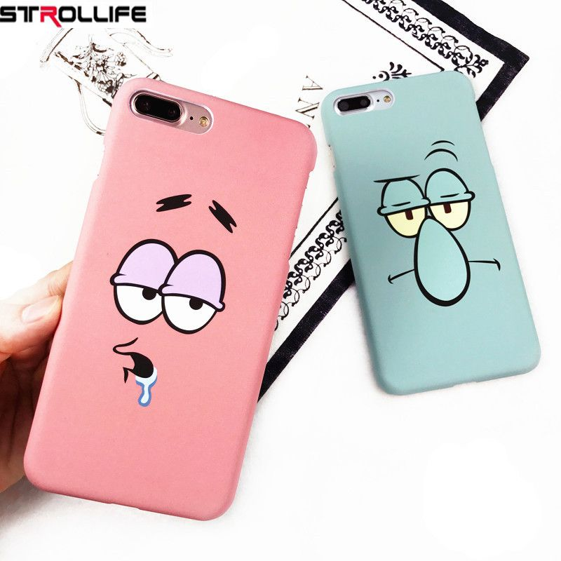 Strollife Funny Cartoon Character Face Emoji Phone Cases For Iphone 6 Case Slim Frosted Hard Cover Coque Emoji Phone Cases Phone Cases Funny Cartoon Characters