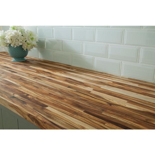 Acacia Butcher Block Countertop 8ft Floor Decor In 2020 Wooden Countertops Kitchen Wood Countertops Kitchen Butcher Block Island Kitchen