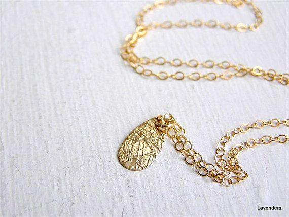 Drop  Necklace   Gold Petal  Drop  Necklace  Textured by lavenders, $26.00