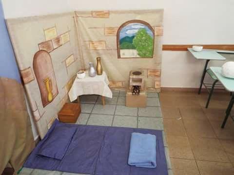 Decoración de casa biblica Ideias para escola, Decoração