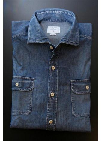 finest selection f751a 282dc Agho camicia da uomo - denim scuro www.malagridabbigliamento ...