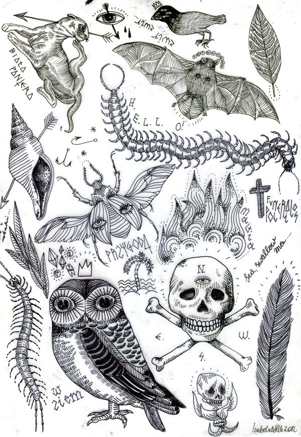 My Own Flash Sheets And Tattoo Designs Also Ideas And Projects For My Paintings Www Blametattoosdawidwolf Tumbl Dark Tattoo Tattoo Flash Sheet Illustration