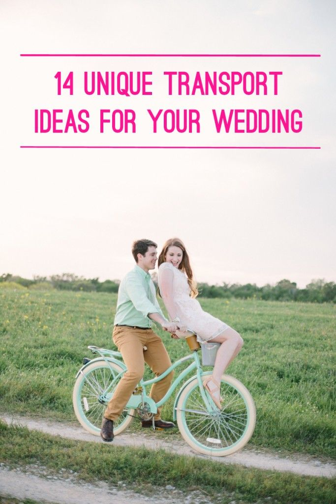 14 Unique Wedding Transport Ideas