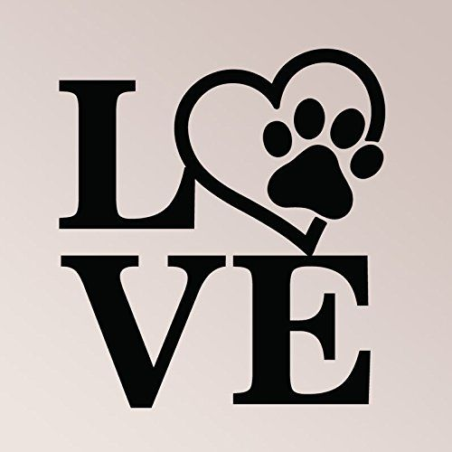 f4ba3b0b1 21x24 Love Symbol Heart Paw Print Dog Cat Pet Lover Wall Decal Sticker Art Mural  Home Decor Quote -- Check this awesome product by going to the link at the  ...