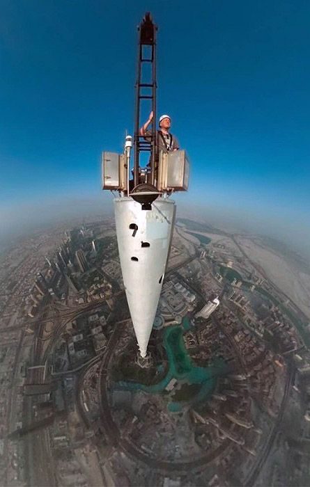 С вершины башни Бурж Халифа, Дубай