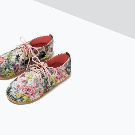 ZARA - PRINTED BLUCHER   Zapatos para bebe niña, Zara kids ...