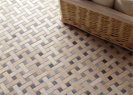 vintage basket weave tile for bathroom