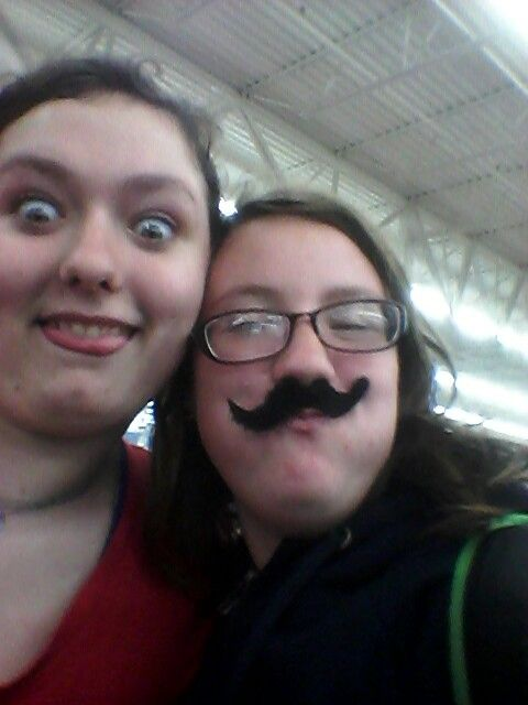 Moustaches. Love this girl. Make time for fun.
