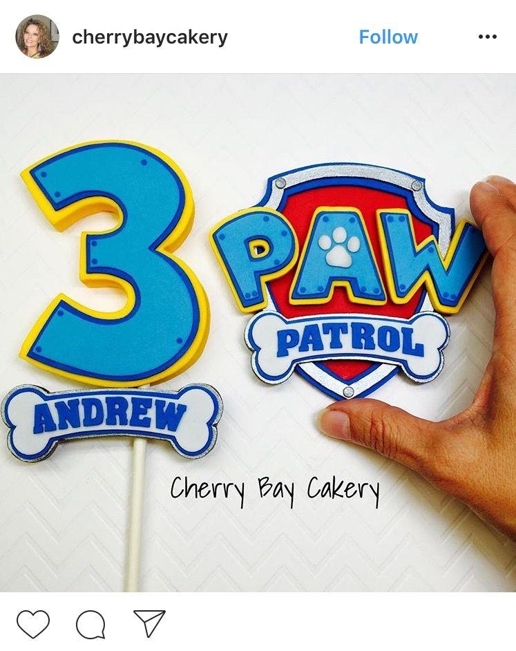 Paw Patrol Logo Fondant Paw Patrol Cake Paw Patrol Cake Toppers Paw Patrol Birthday Cake Boys