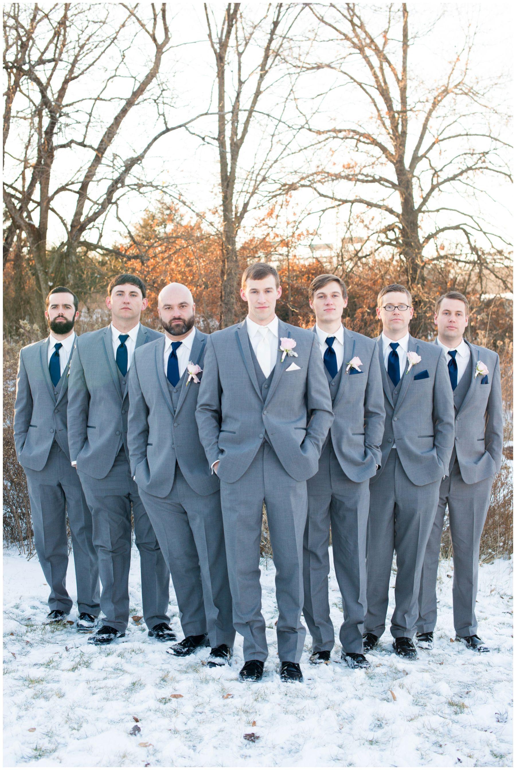 navy and blush winter wedding inspiration, kansas city wedding ...