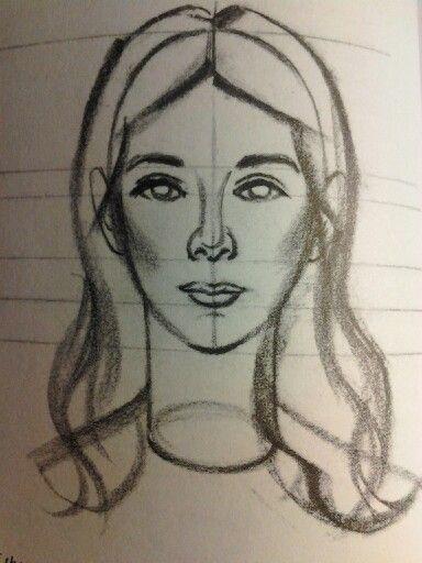 Dibujar rostros de mujeres  Imagui  Gatos lindos  Pinterest