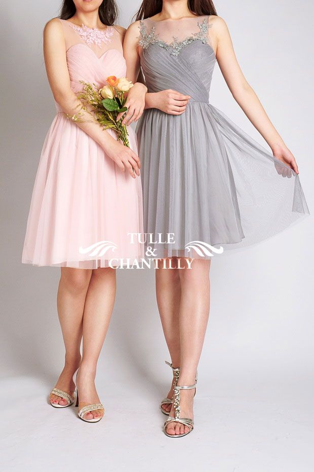 Top 10 New Bridesmaid Dresses 2015 Styles From Tulle Chantilly Brown Bridesmaid Dresses Short Bridesmaid Dresses Grey Bridesmaid Dresses Short