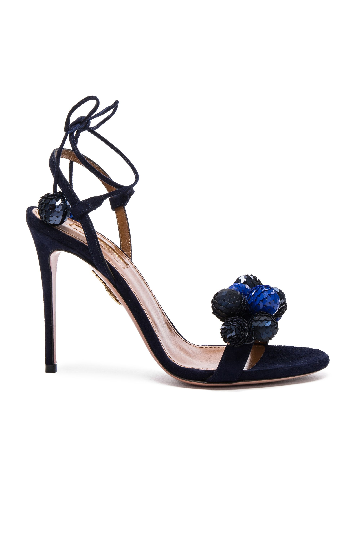cdfff57493f AQUAZZURA Disco Thing Suede Heels.  aquazzura  shoes