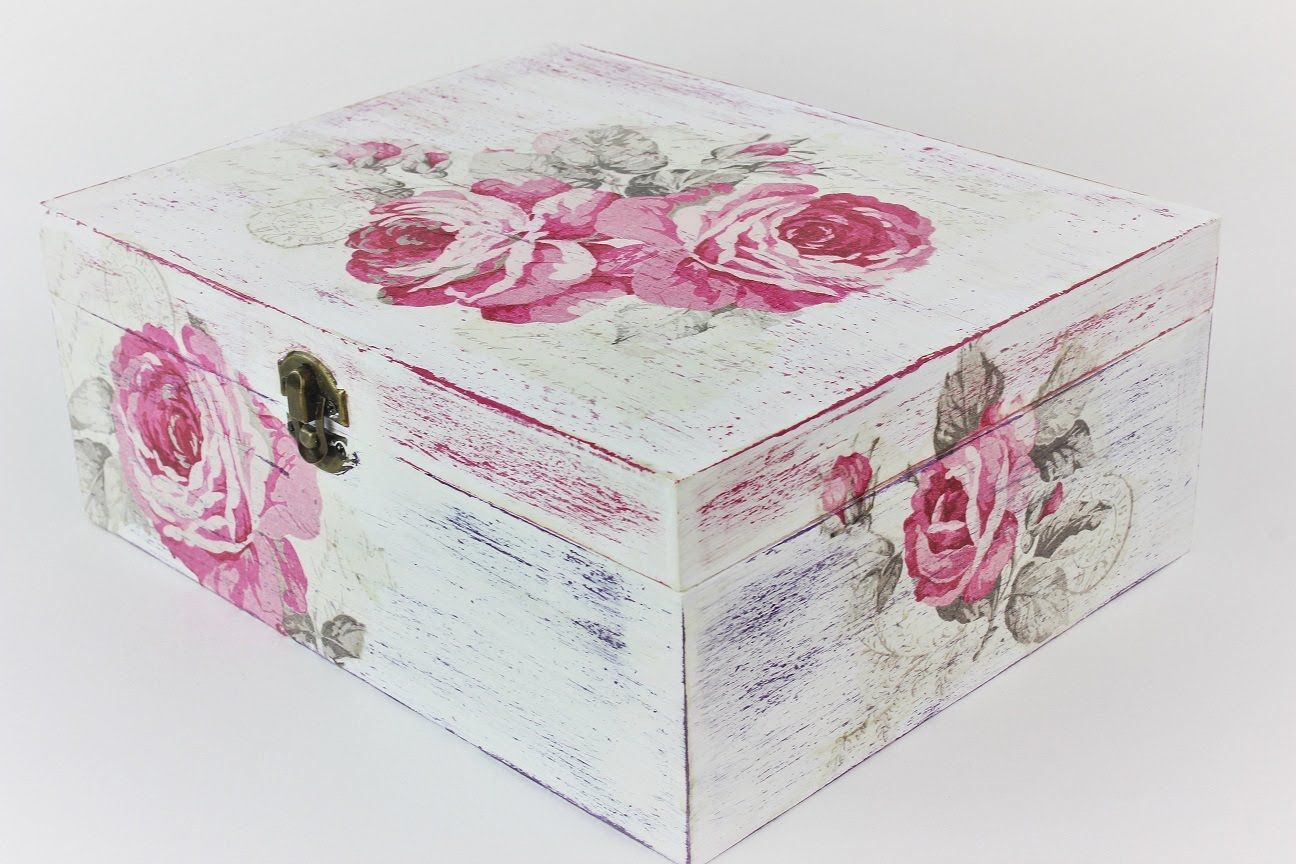 How to make a decoupage box , Easy Tutorial , DIY