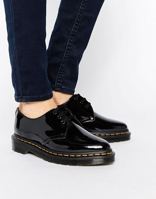 Dr Martens Dupree 3 Eye Point Flat Shoes at asos.com