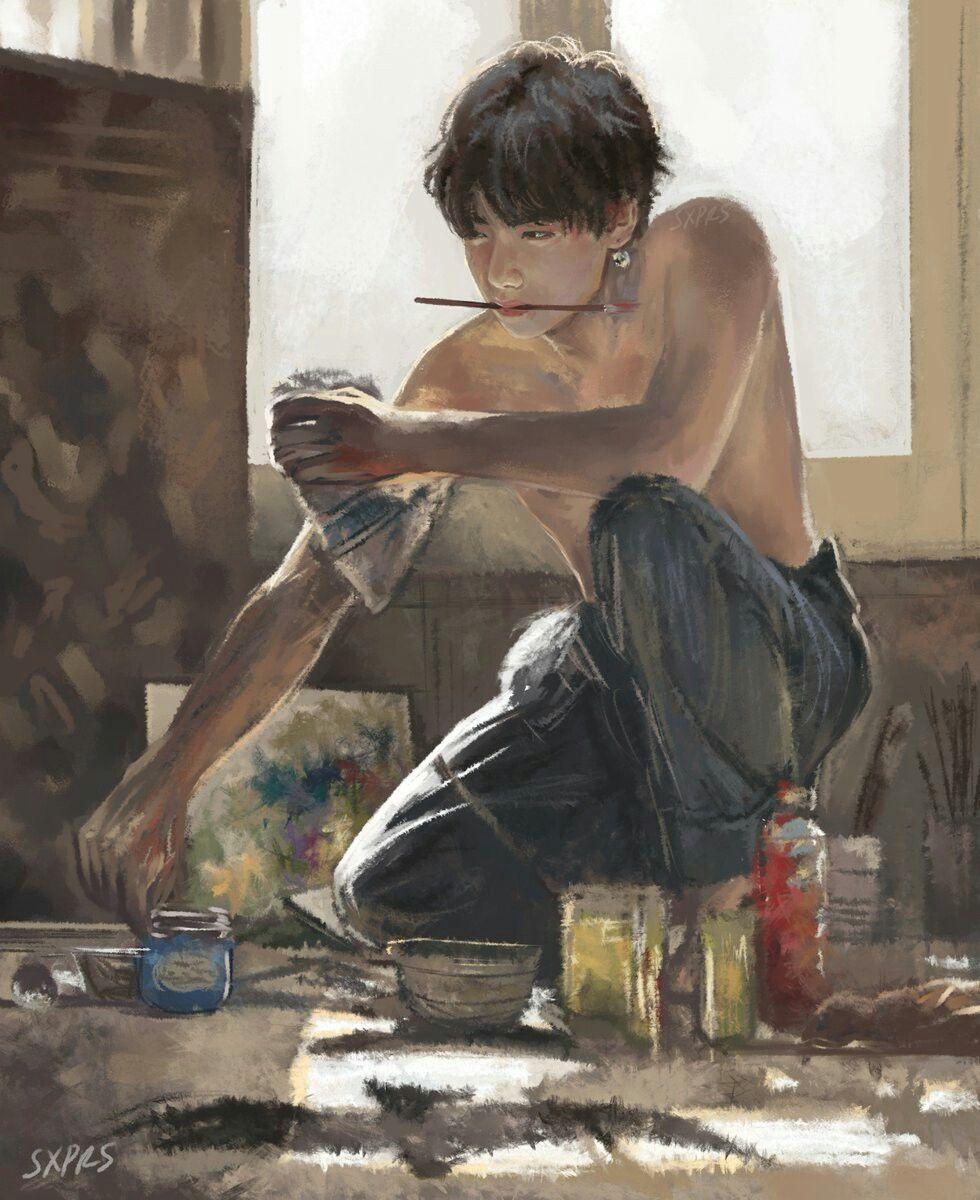 Taekook Tattoo: Au Where Jungkook Has An Art Studio And Teaches Art. So