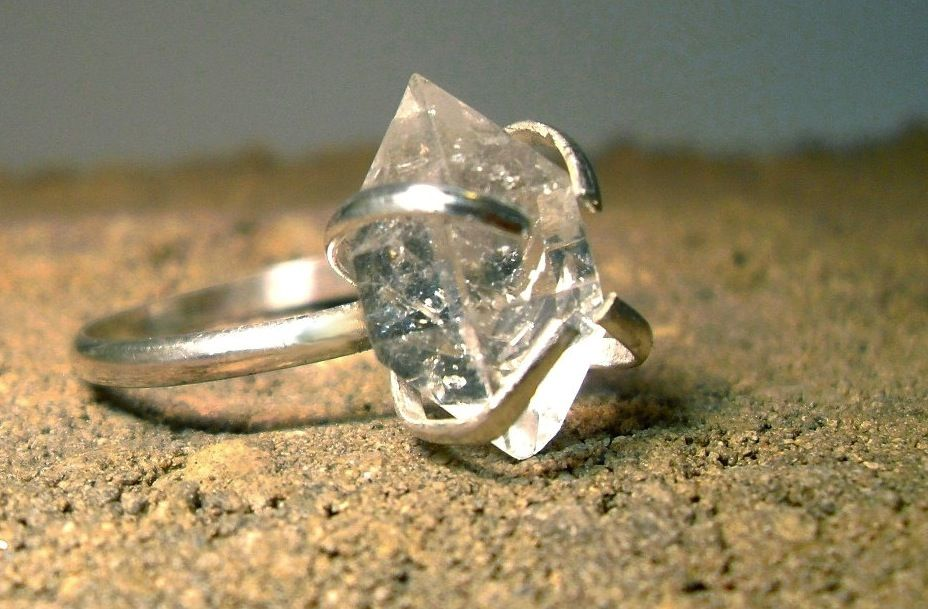 Unique Diamond Engagement Rings Wedding Jewelry With Rough