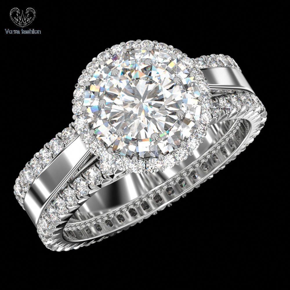 10k White Gold 1.25 CT Diamond Women's Engagement Ring