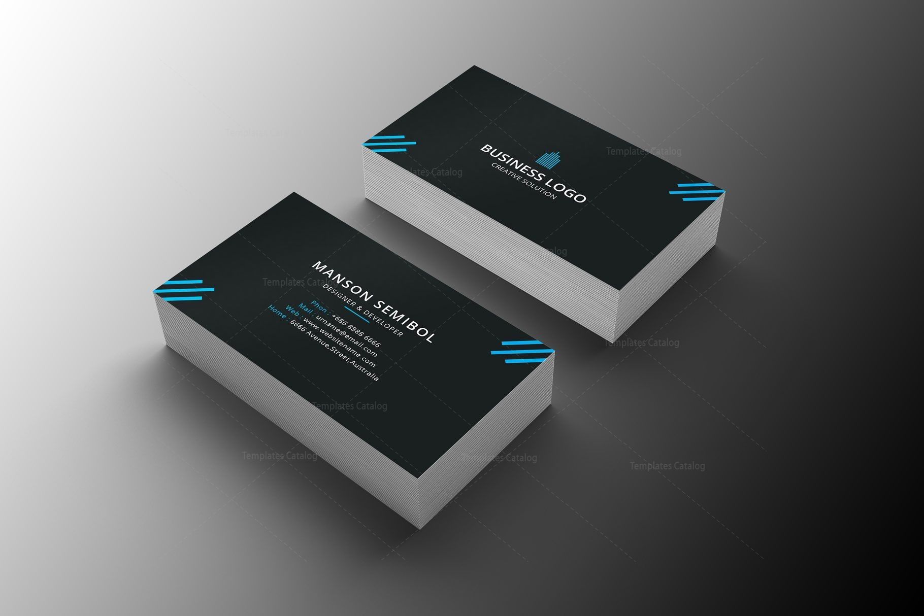 Minimal Mechanic Business Card Design Graphic Templates Business Card Template Design Business Card Design Graphic Design Business Card