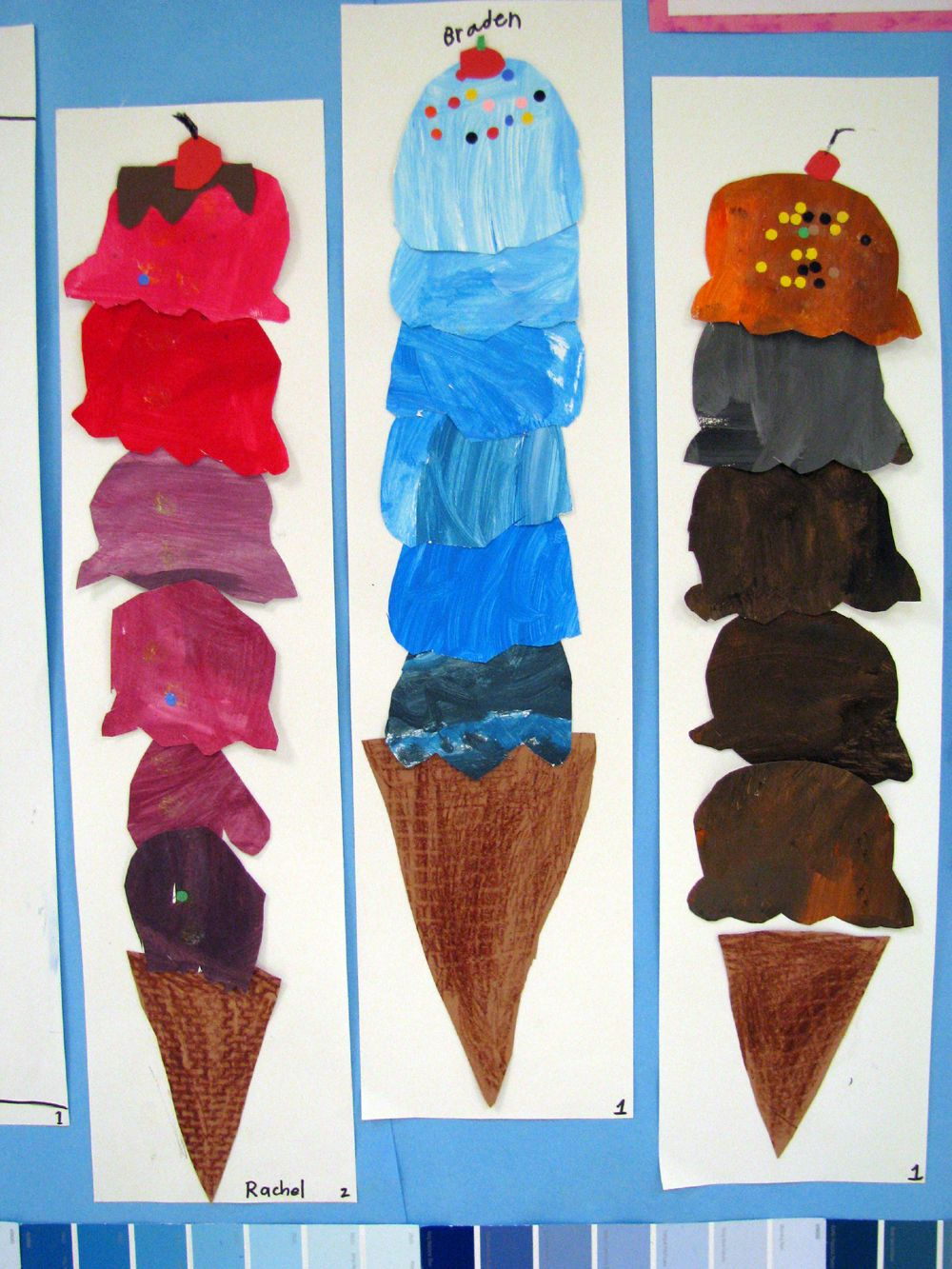 mrs. bearden's art room. tints and shades ice cream cones. IMG_1308
