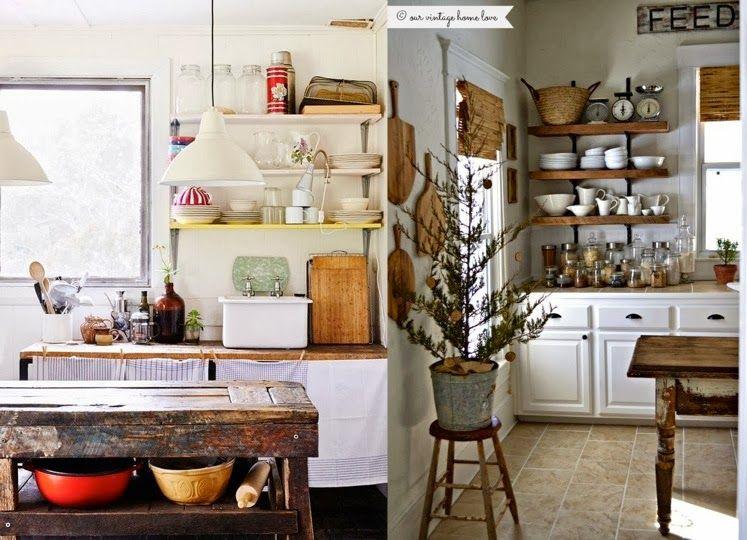Cocinas campestres con aire vintage cocinas pinterest for Cocinas campestres pequenas
