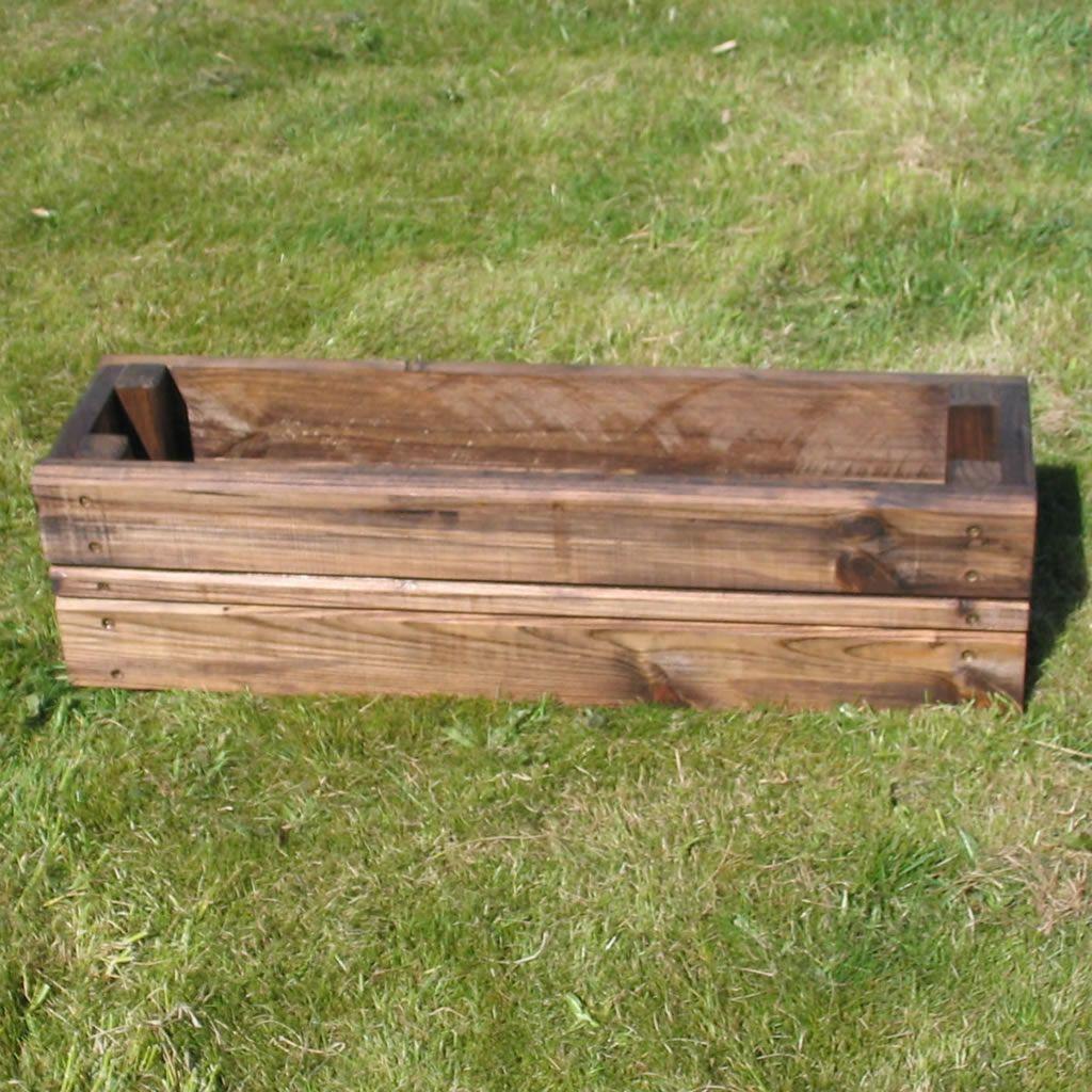 Superb Wooden Garden Planter Rectangular Large 76x20x20cm The Cellar Trust