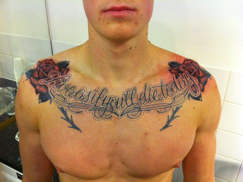 Rose Tattoofor Arm To Chest: Rose Chest Tattoos For Men