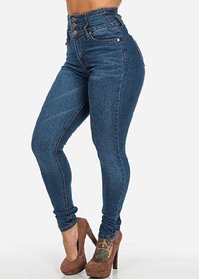 fa3554ba2f2 Very High Waisted Colombian Skinny Jeans