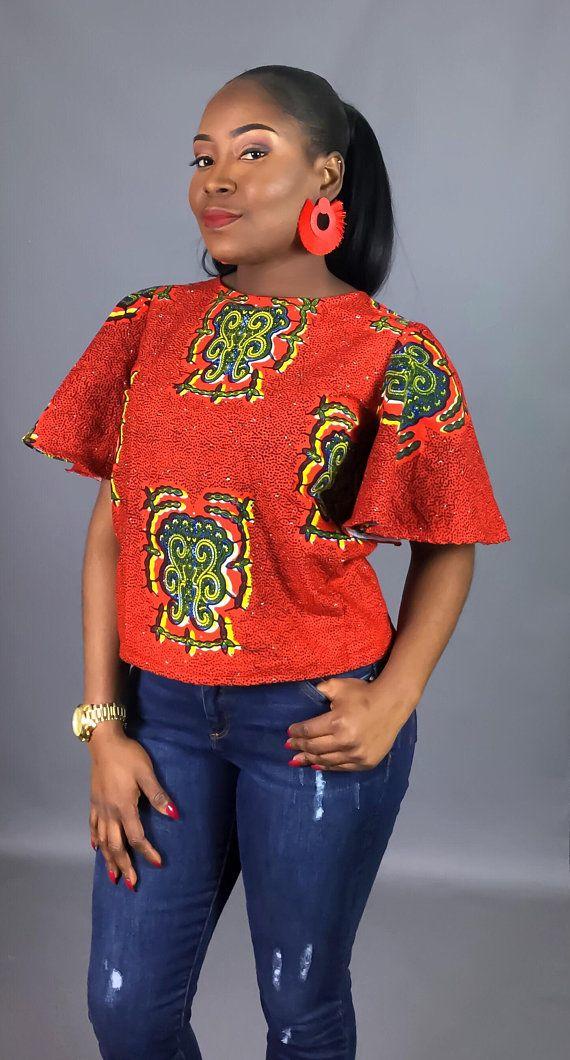 Dashki Fabric African Fashion Ankara Kitenge African: African Clothing,red African Print Top,African Print