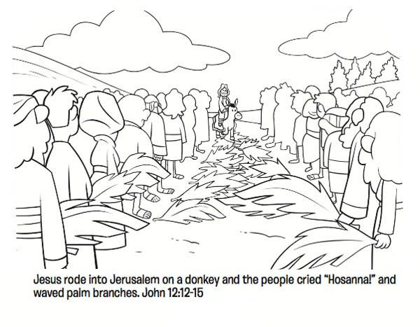 Palm Sunday Coloring Pages Sunday School Coloring Pages Bible