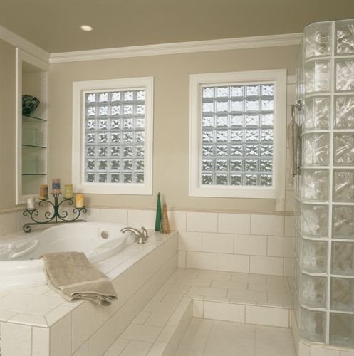 Pin By Seattle Glass Block On Glass Block Windows Glass Block Windows Bathroom Window Glass Glass Block Shower