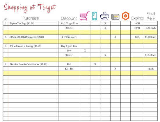 Coupon Organizing Printables! *Store Specific* Organizing - check registers