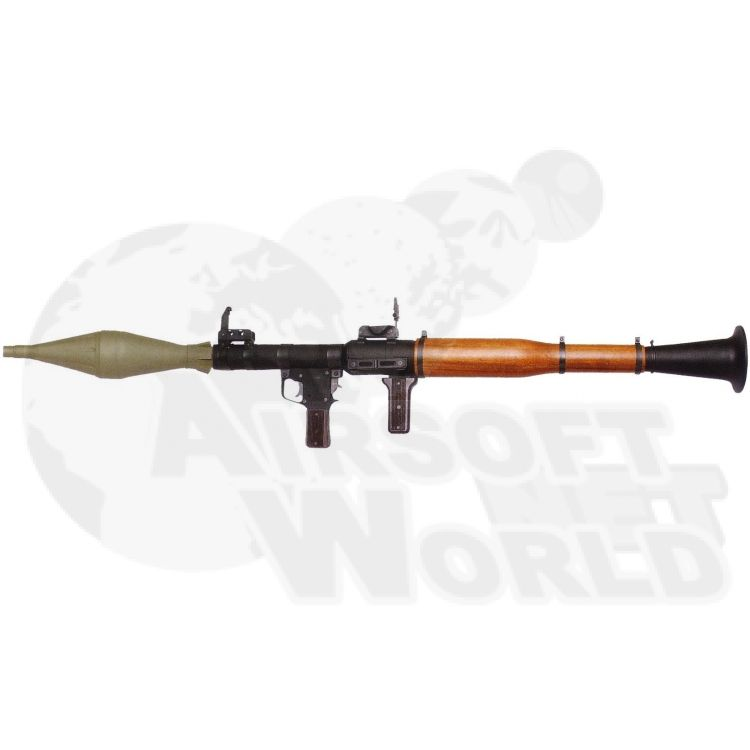 agm airsoft rpg7 full metal and faux wood rocket launcher