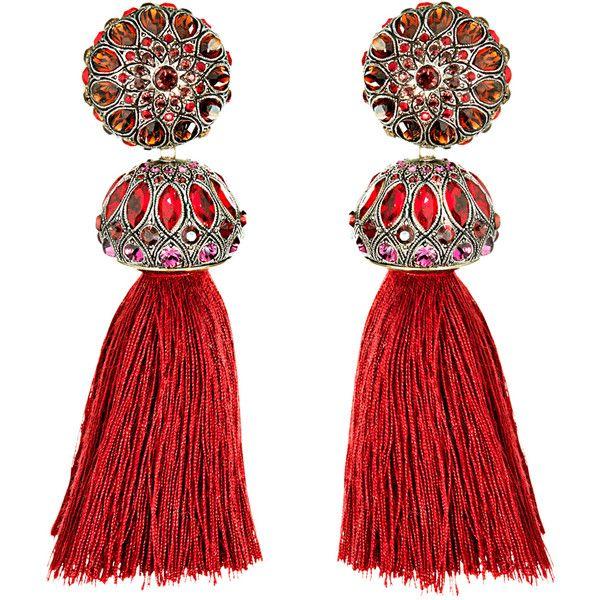Lanvin Tassel Earrings in Metallics,Neutrals