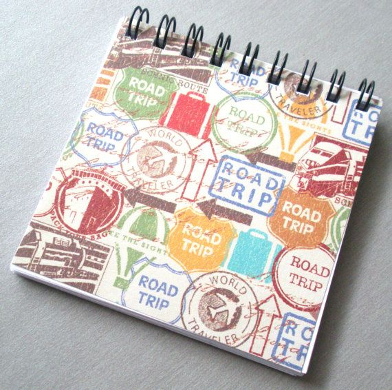 Road Trip  Mini Notebook  3x3 by ARainyDayMarket on Etsy, $3.50