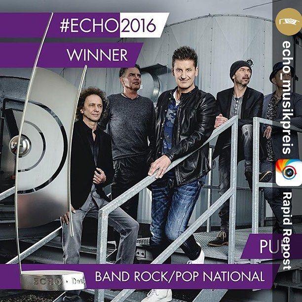 12 Jahre nach ihrem letzten ECHO erhalten @pur_band heute den #ECHO2016 ihr insgesamt 5. ECHO-Award! #charts #musik #pop #gala #promis #music #instamusic#favoritesong #bestsong #photooftheday #echo #rock