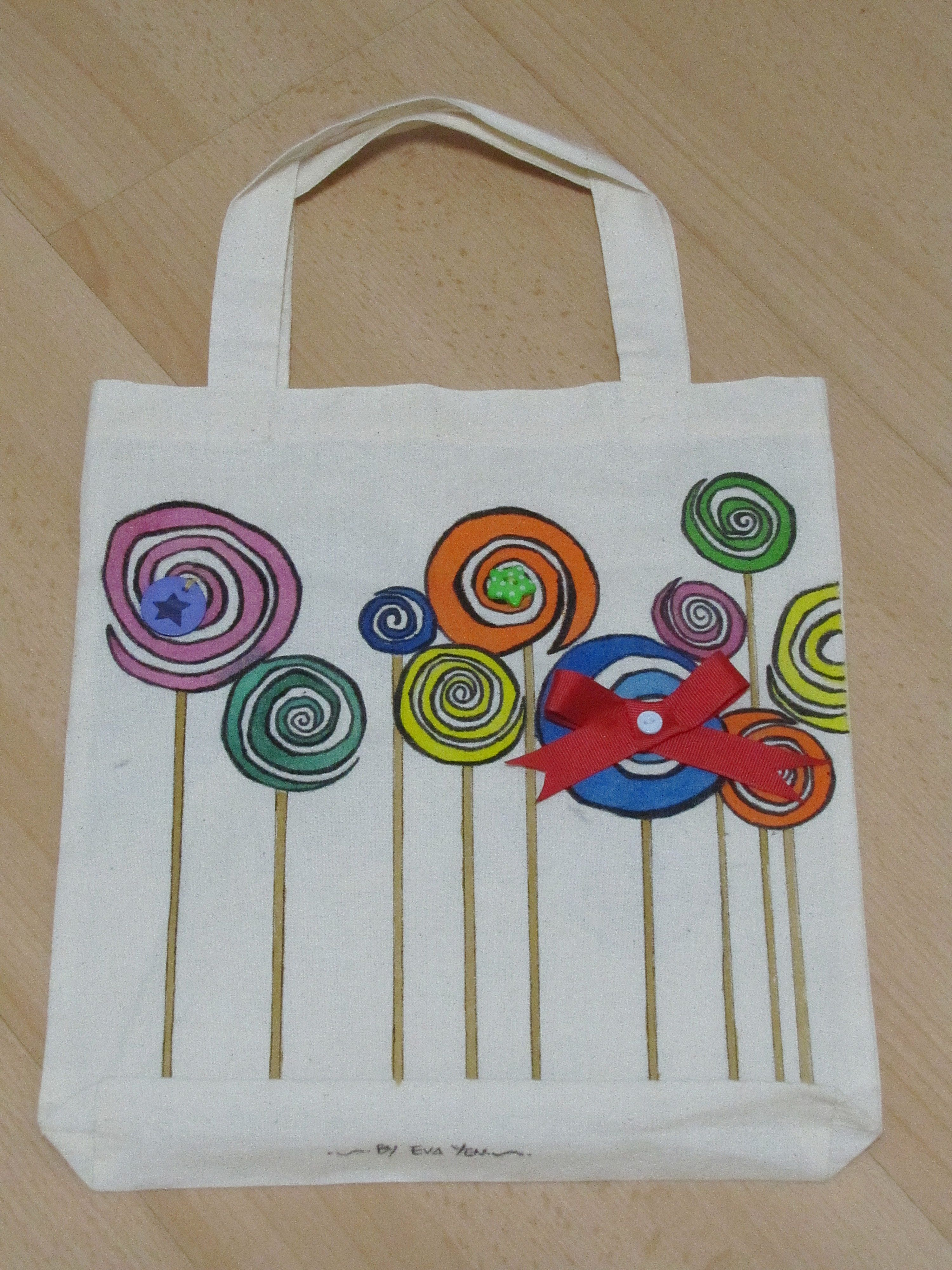 Hand painted bag my craft work pinterest bag craft for Arts and crafts tote bags