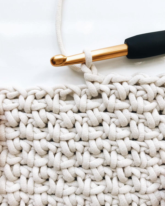 Crochet Blanket (linen, moss, granite stitch)