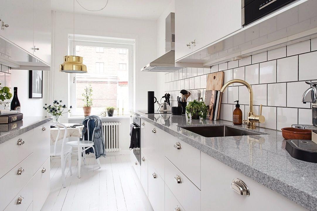 1- Inspiración en la cocina blanco y dorado | cocina | Pinterest ...