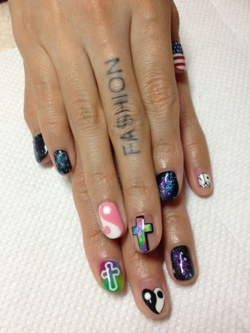 Grunge Tumblr Nails Beauty Pinterest Grunge Make Up And